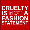 Animal Right T-Shirt: Cruelty Is Not A Fashion Statement